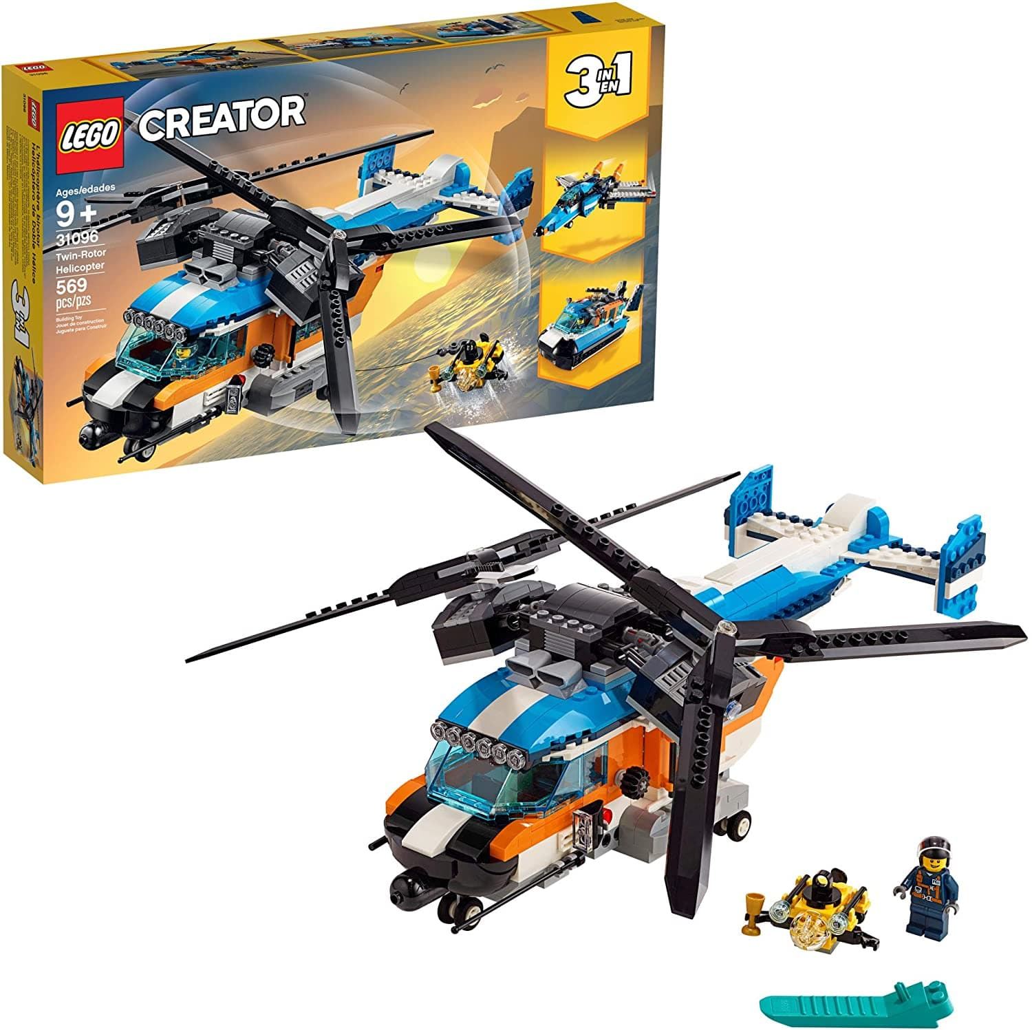 569-Piece LEGO Creator 3-In-1 Twin Rotor Helicopter Building Set $39.97 + Free Shipping via Amazon/Walmart