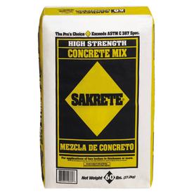 Sakrete 60-lb Gray High Strength Concrete Mix $1.98 @ Lowes
