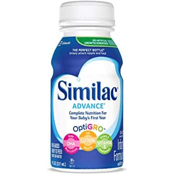 Similac Advance Infant Formula with Iron, Baby Formula, Ready to Feed, 8 fl oz (Pack of 24) $37.20 AC