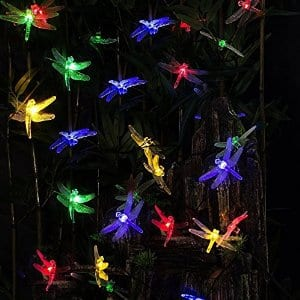 20 LED Solar Powered Dragonfly Fairy Lights: $9.99 FS w/prime @Amazon