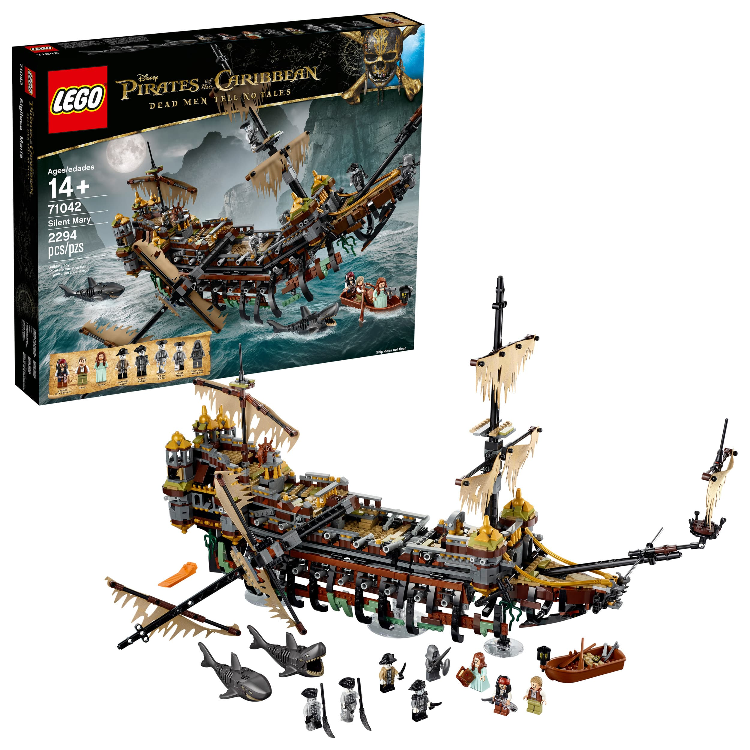 LEGO 71042 Pirates of the Caribbean Silent Mary (2294 Pieces) 30% off! $139.99