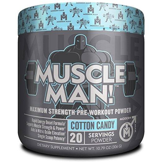 MUSCLE MAN – Pre Workout Muscle Builder | Cotton Candy - 306 grams $17.98