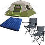 Ozark Trail 6-Person Dome Tent w/ 2 Folding Chairs & Queen Airbed $89 (w/ Free Shipping)