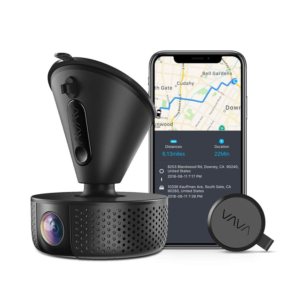 Dash Cam, VAVA 1920x1080P@60fps Wi-Fi Car Dash Camera with Sony Night Vision Sensor, Dashboard Camera Recorder with GPS, Parking Mode, G-Sensor, Support 128GB max $72.81
