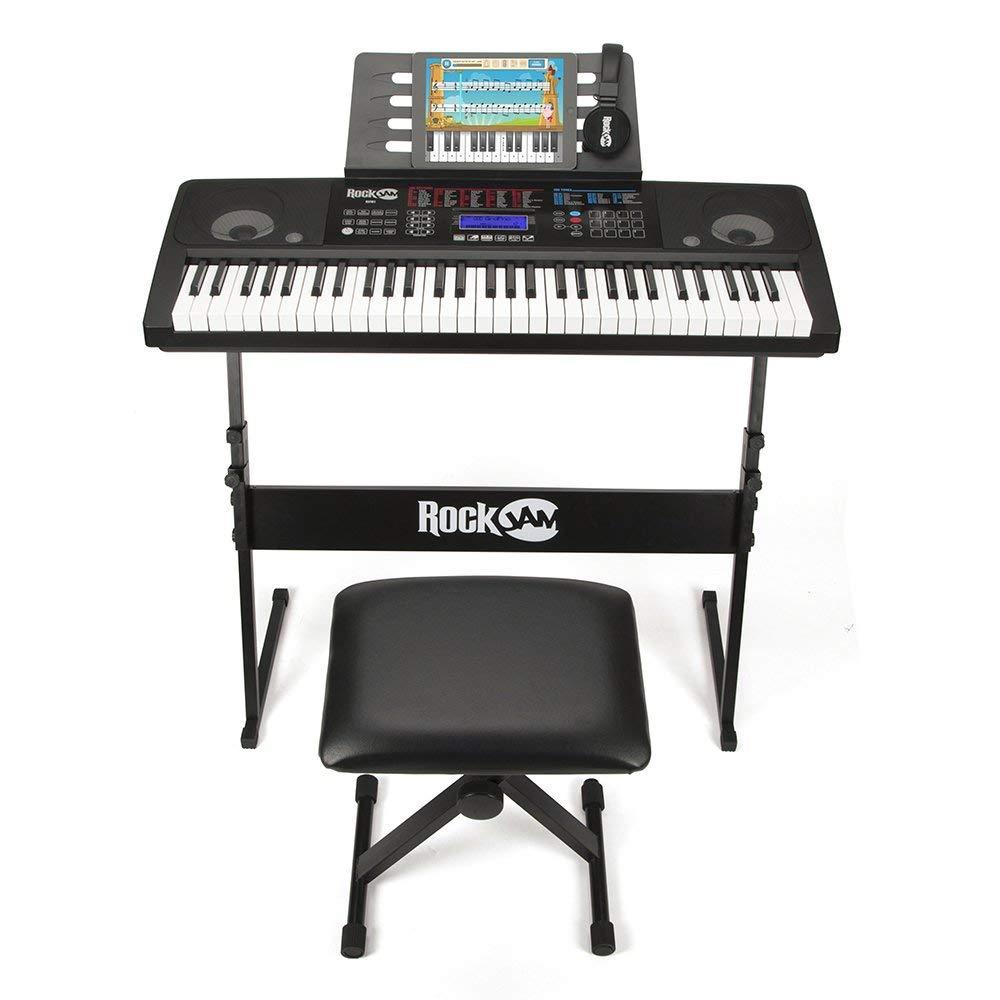 RockJam RJ761 61 Key Electronic Interactive Teaching Piano