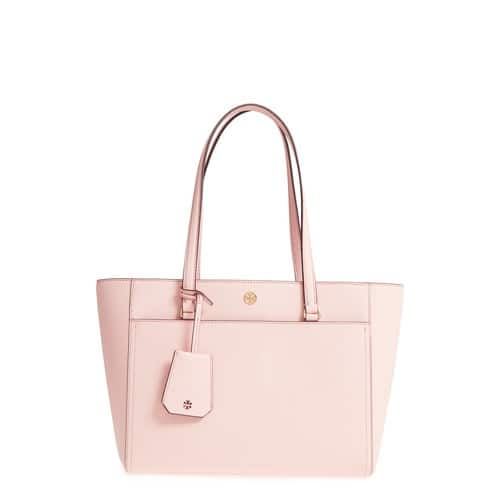 Tory Burch Small Robinson Leather Tote $199.66 + fs