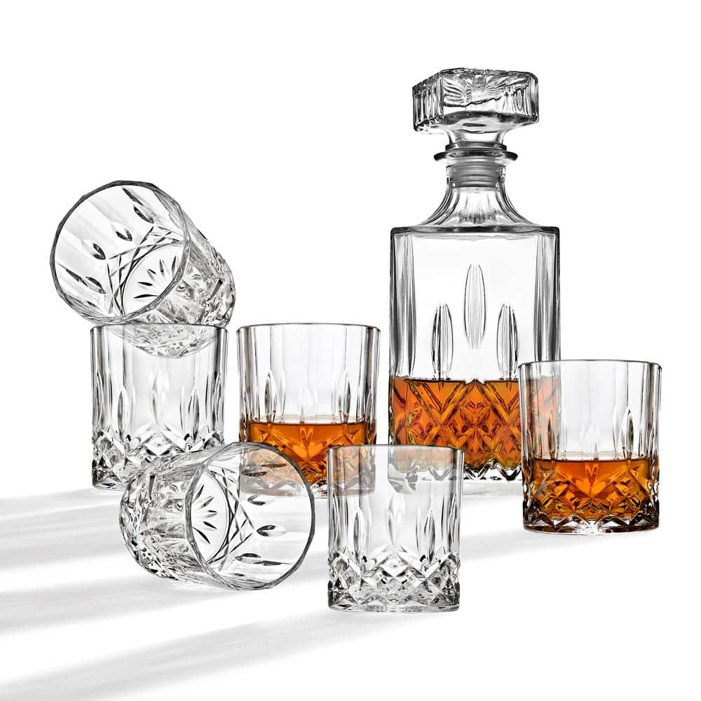 34 oz. Diamond Decanter and 10 oz. DOF Whiskey Glasses (7-Piece Set) $16.99 + ship