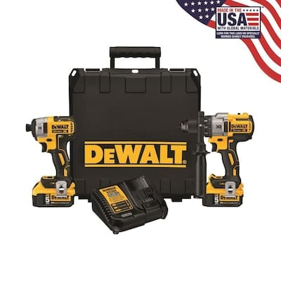 DEWALT XR 2-Tool 20-Volt Brushless Power Tool Combo Kit (DCK299P2) with Hard Case (Charger Included and 2-Batteries Included) $299