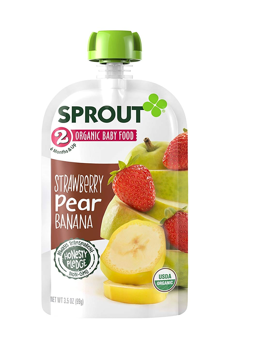 Sprout Organic Baby Food Pouches Stage 2 Sprout Baby Food, Strawberry Pear Banana, 3.5 Ounce (Pack of 12); $8.99 via S&S