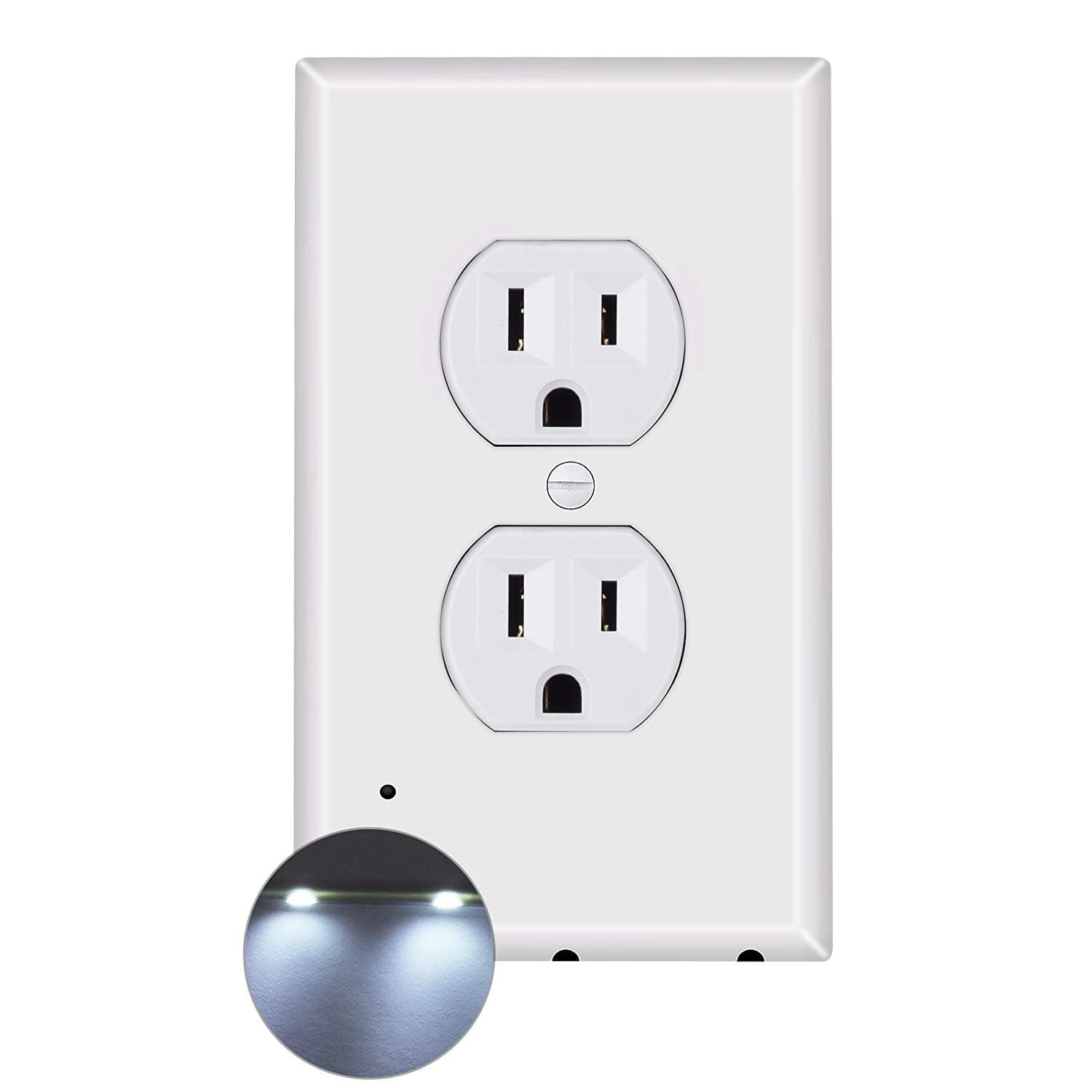 52% OFF Outlet Covers Night Light Plates, Duplex Wall Plate with LED for $4.88