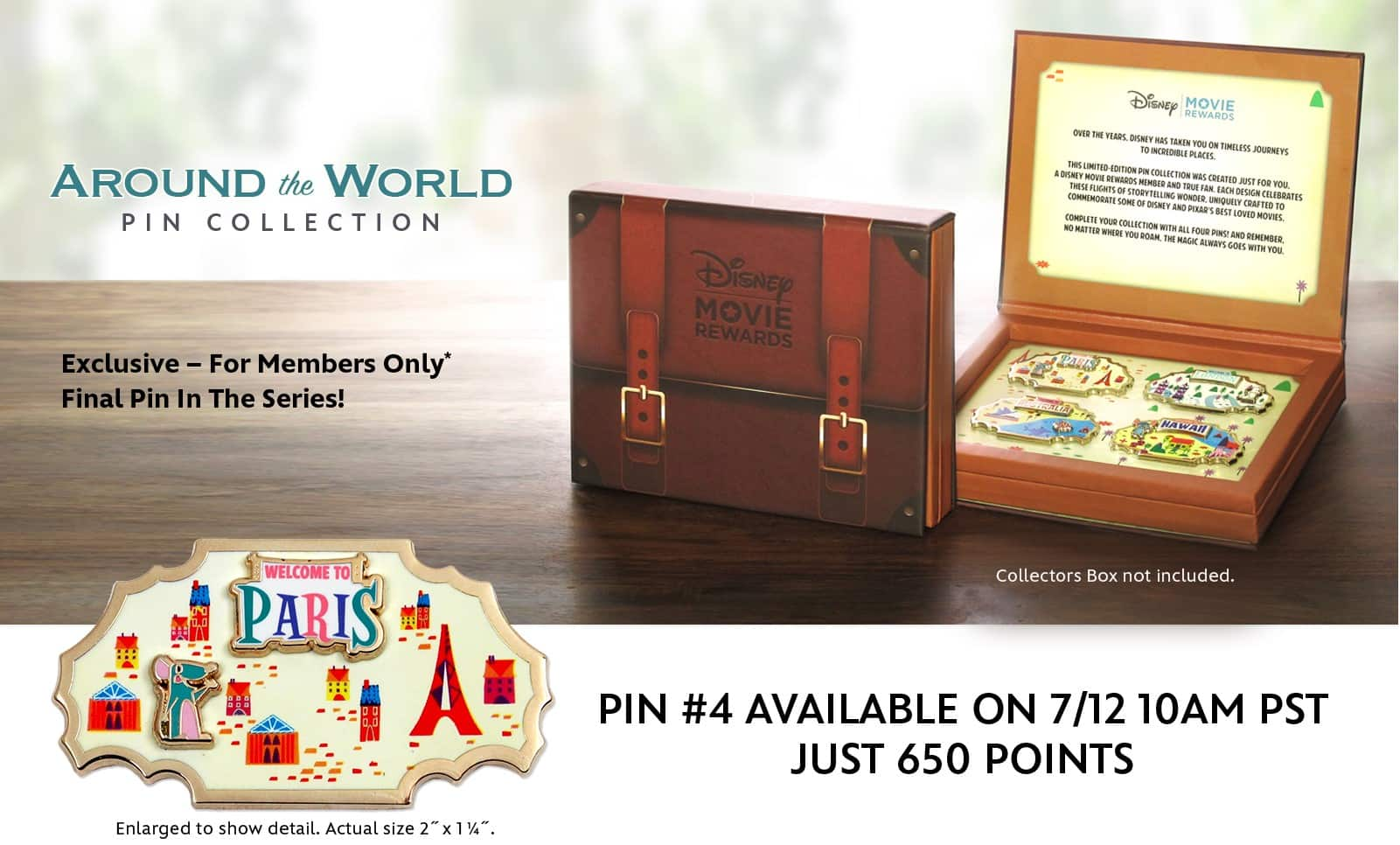 Disney Movie Rewards: Around the World Pin Collection #4 (Paris) - 650 Points