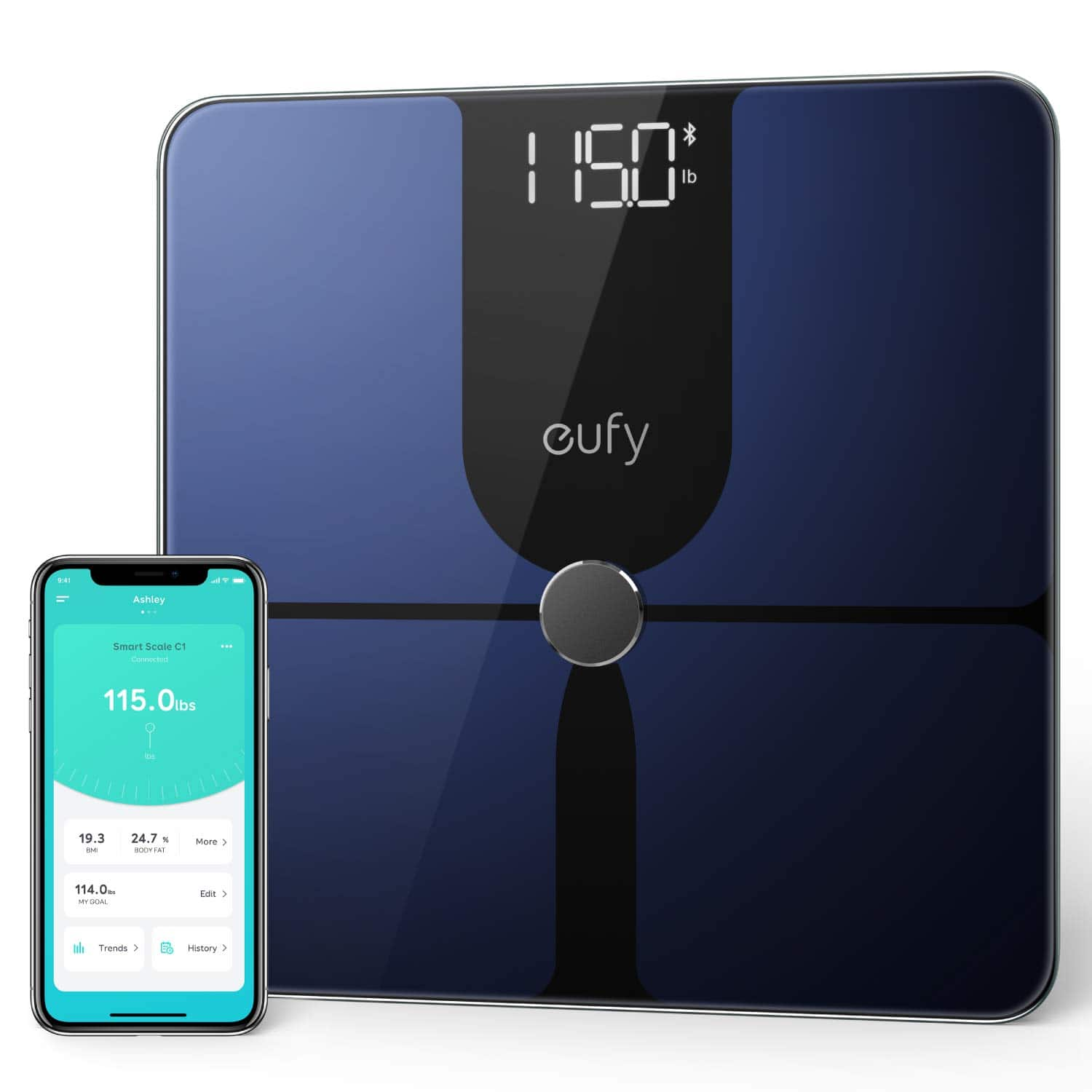 eufy by Anker, Smart Scale P1 with Bluetooth, Body Fat Scale, Wireless Digital Bathroom Scale, 14 Measurements, Weight/Body Fat/BMI, Fitness Body Composition Analysis $35.99