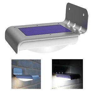 16 LED Solar Power Motion Sensor Garden Security Lamp $ 8.5 @Ebay $8.5
