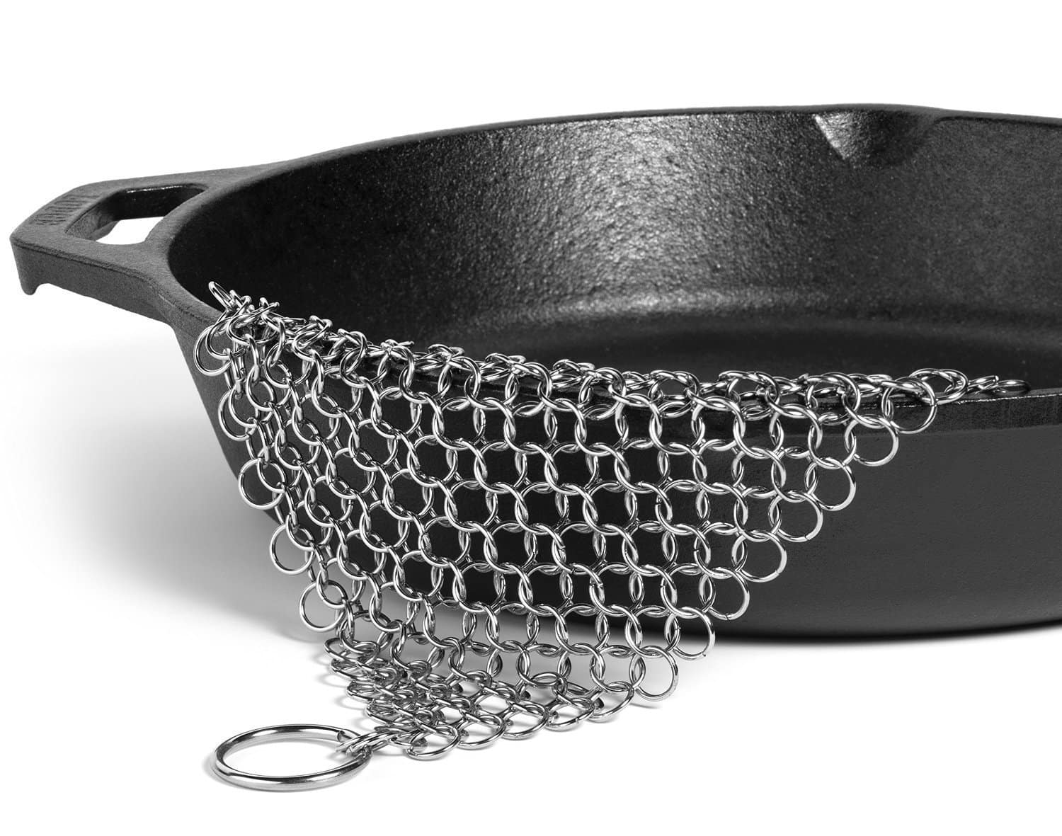 """Amagabeli 8""""x6"""" Stainless Steel Cast Iron Cleaner Chainmail Scrubber for $6.99 @Amazon"""