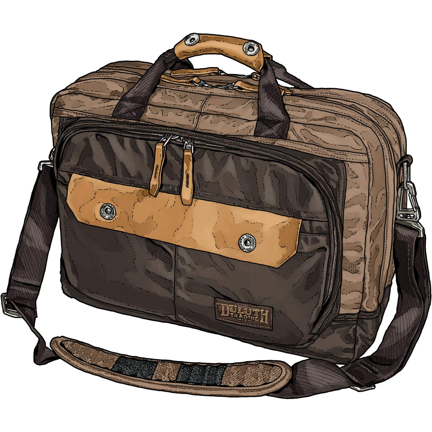 Duluth Trading Co. Large Canvas Beefcase Briefcase, $101.15 + tax, free shipping