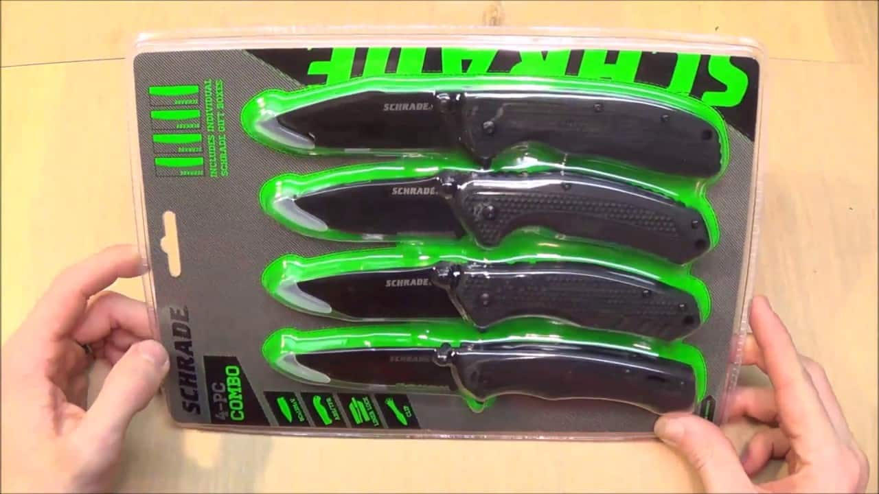 Schrade 4 Piece Knife Set - Walmart In Store (YMMV) - $9