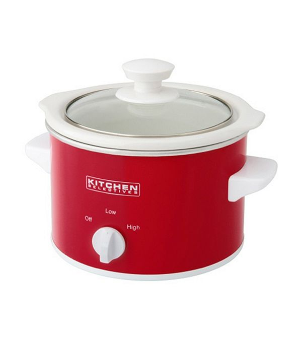Kitchen Selectives: $6.29 Kitchen Selectives 1.5-qt Slow Cooker, Red Color