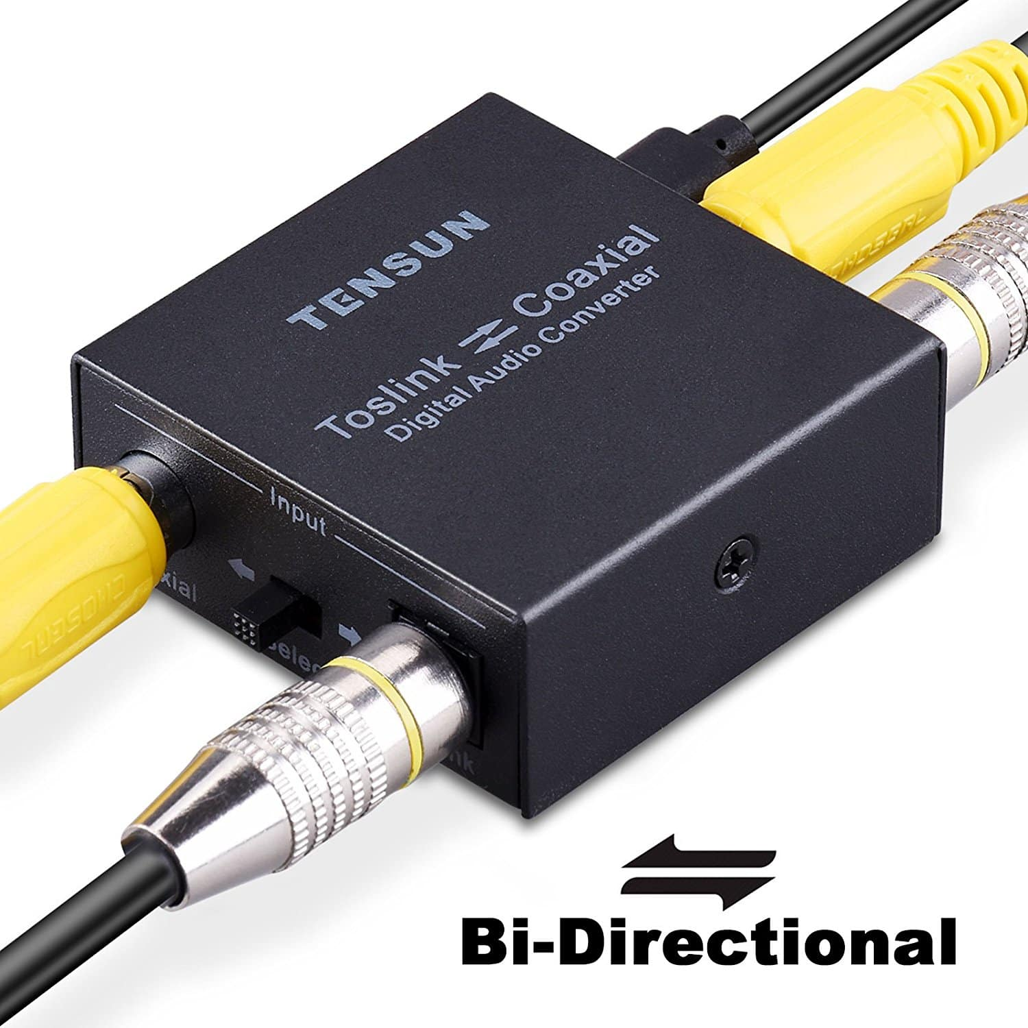Optical to Coax and Coax Coaxial to SPDIF Toslink Bi-Directional Digital Audio Converter (Black) for $11.99