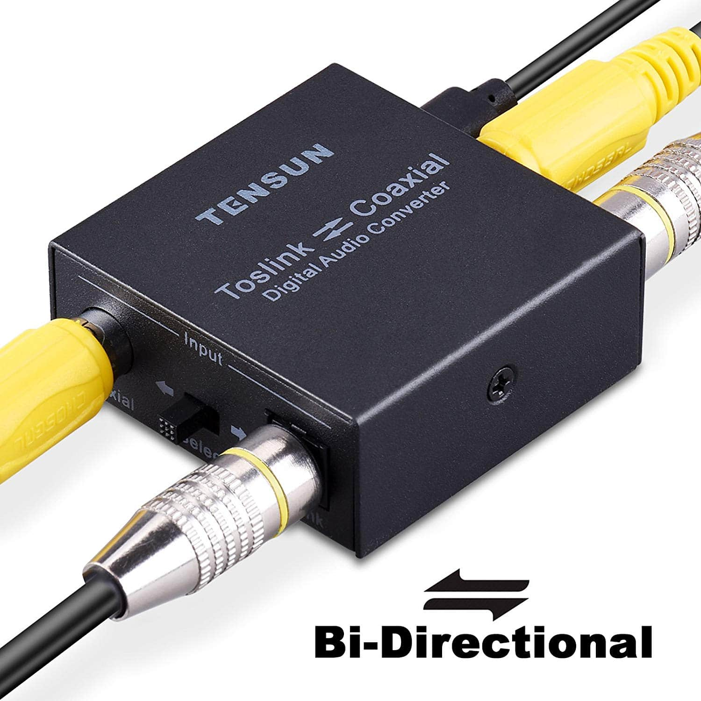 Optical to Coax and Coax to Optical Bi-Directional Converter $11.99 @Amazon