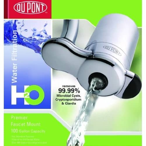 DuPont WFFM100XCH Premier Faucet Mount Drinking Water Filter, Chrome [Chrome] $15.72