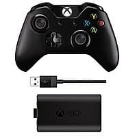 Amazon Deal: Xbox One Controller (3.5mm  Headset Jack) + Play and Charge Kit - Amazon - $17 off for Prime Members - $62.12 after tax