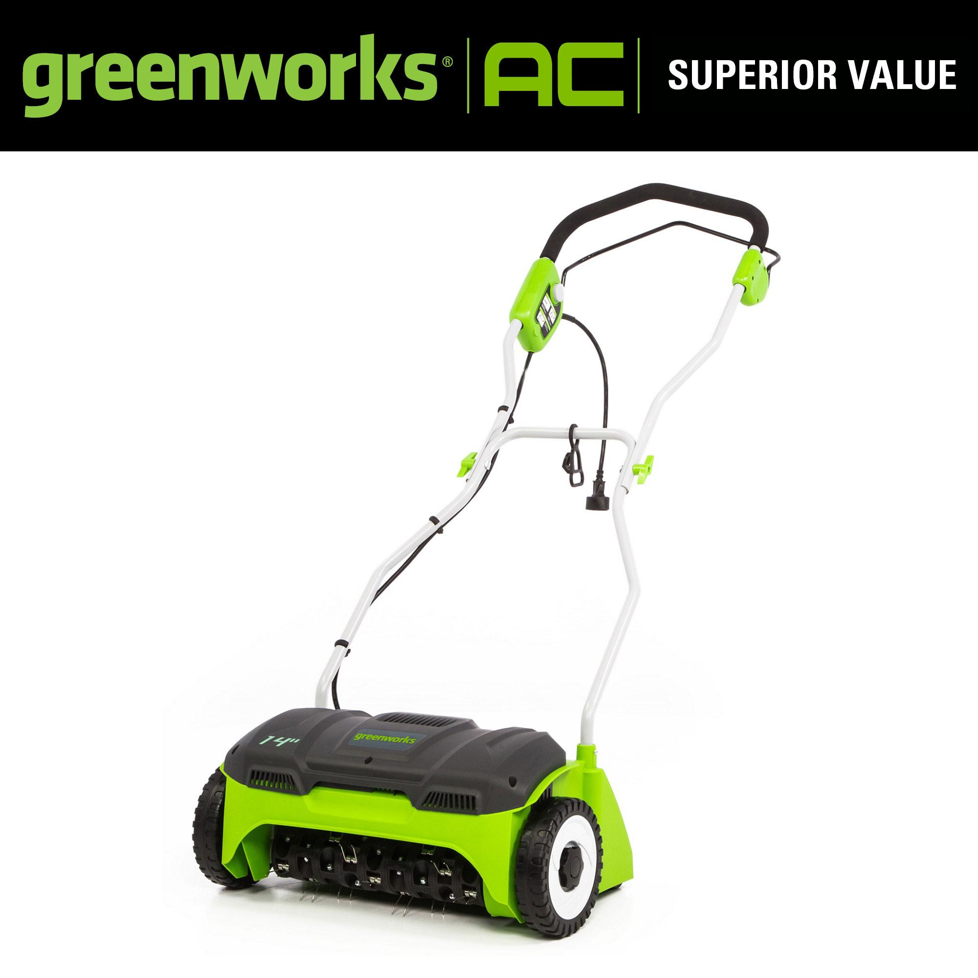 Greenworks 14 in. 10 Amp Corded Dethatcher, DT14B00 - Walmart.com - Walmart.com $99.99