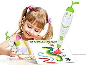 Airbrush Marker Sprayer Kit for Kids (1 x Electric airbrush pen + 24pcs markers + 5 x Stencils) for $24.99 + Free Shipping