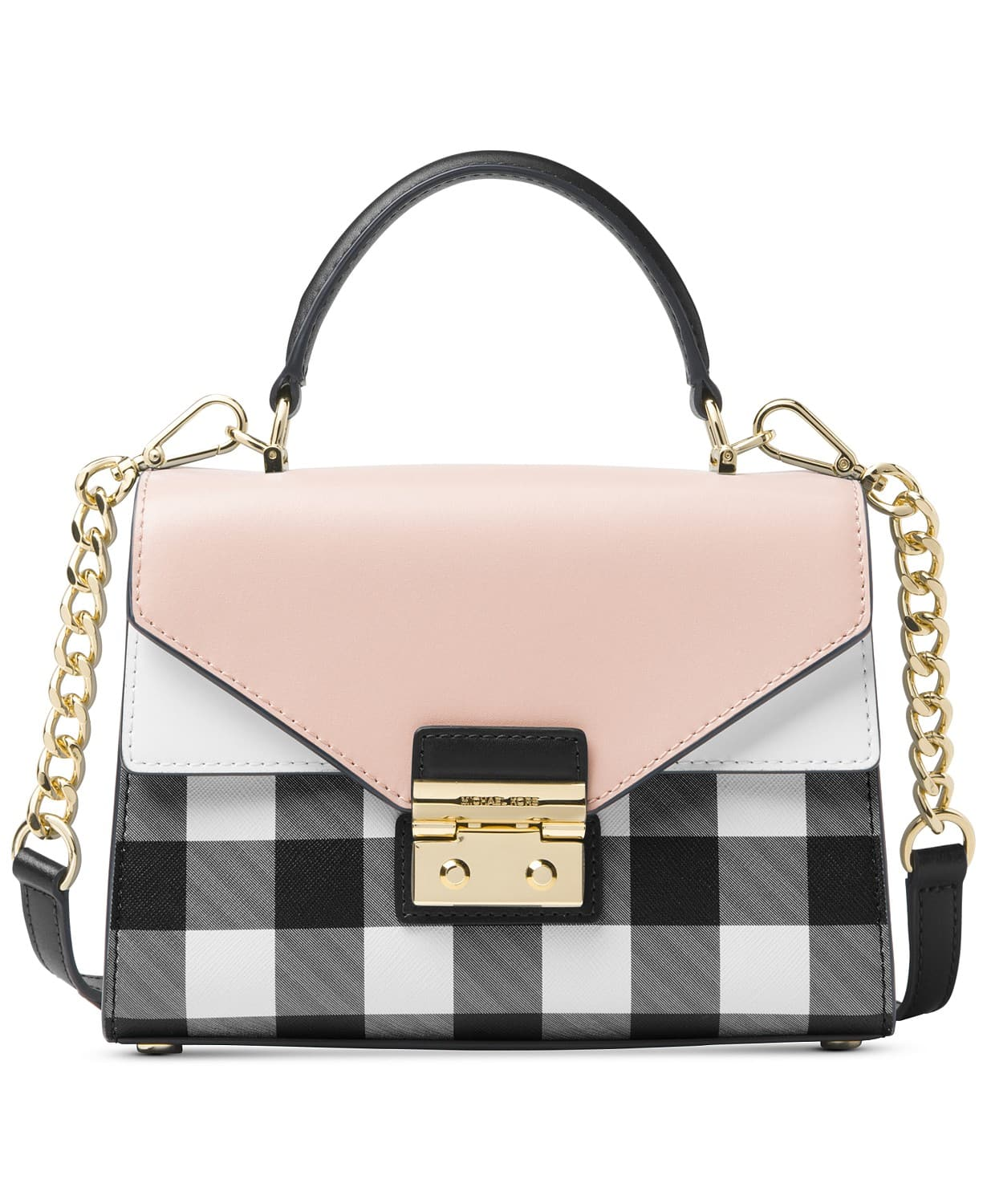 Michael Kors Sloan Gingham Small Top-Handle Satchel for $137 @Macy's+free shipping