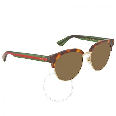GUCCI Havana/Gold Round Sunglasses for $164.99