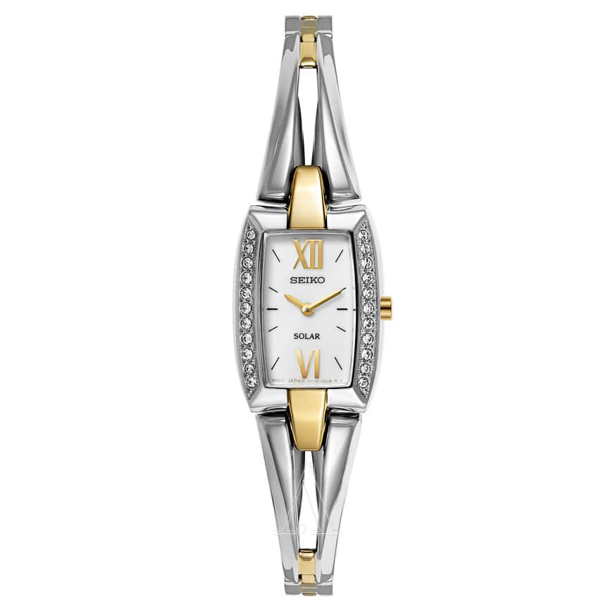 SEIKO Women's Core Watch Stainless Steel and Yellow Gold Plated for $118
