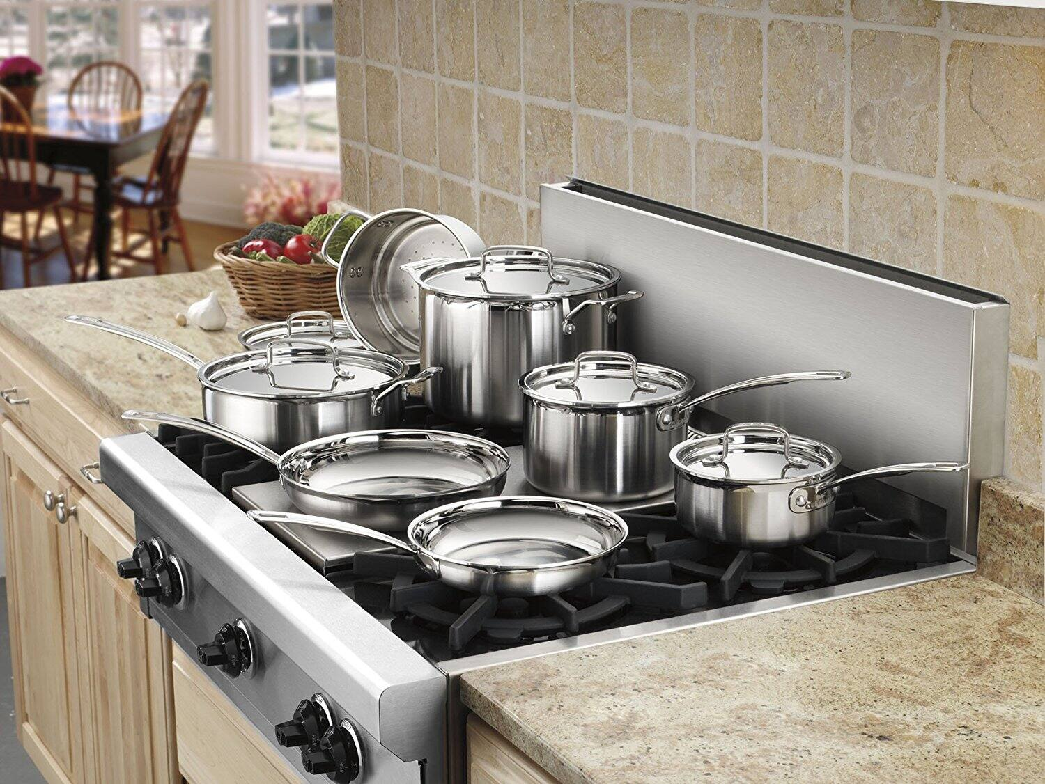 Kohls Cardholders Cuisinart 12-pc. MultiClad Stainless Steel Cookware Set + KC $30 + Free Shipping $174.99
