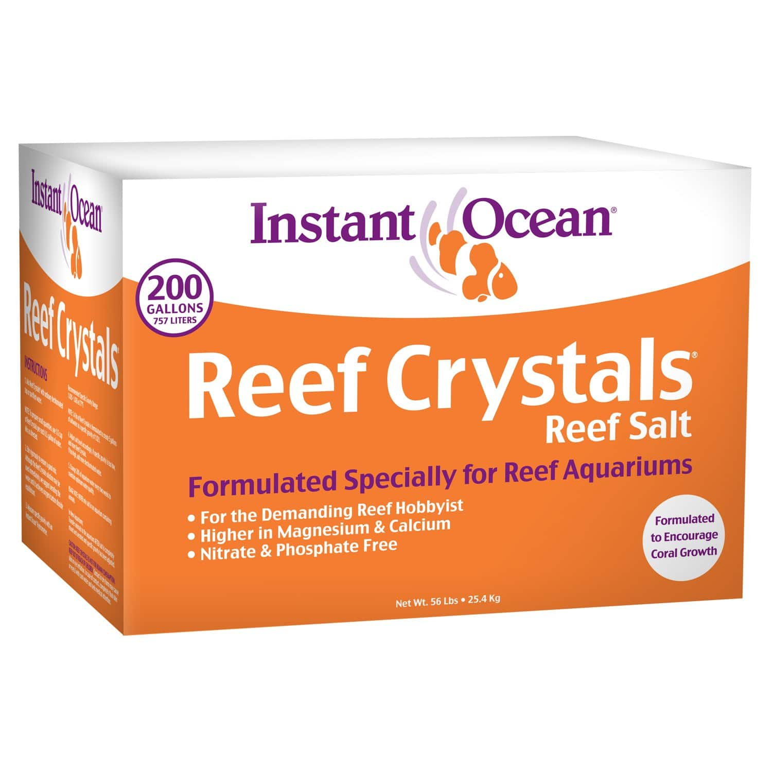 Instant Ocean Reef Crystals Reef Salt for Reef Aquariums, 200 Gallons  $33.17 w/S&S @ Amazon