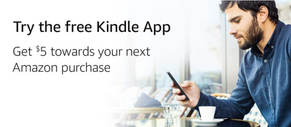 Amazon is offering $5 credit if you download and sign in to kindle app YMMW