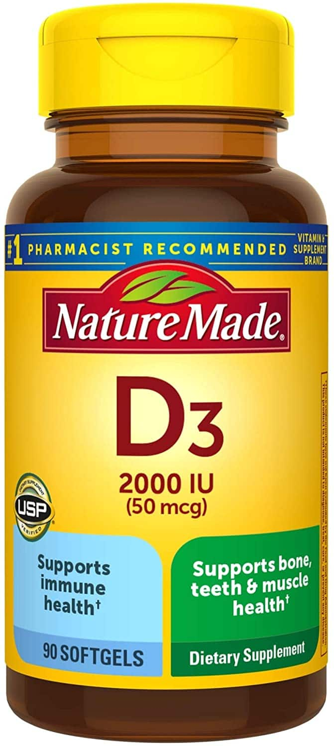 Nature Made Vitamin D3 2000 IU Softgels, 90 Count for $5.59 with S&