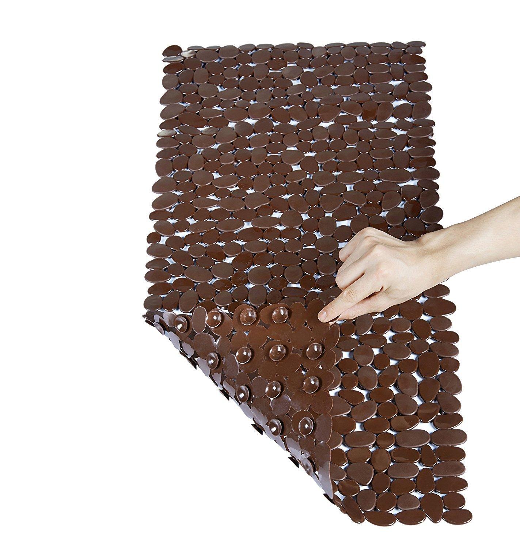 44% off NTTR Non-Slip Pebbles Bath Mat  (Brown,16 W x 35 L Inches) for $8.95