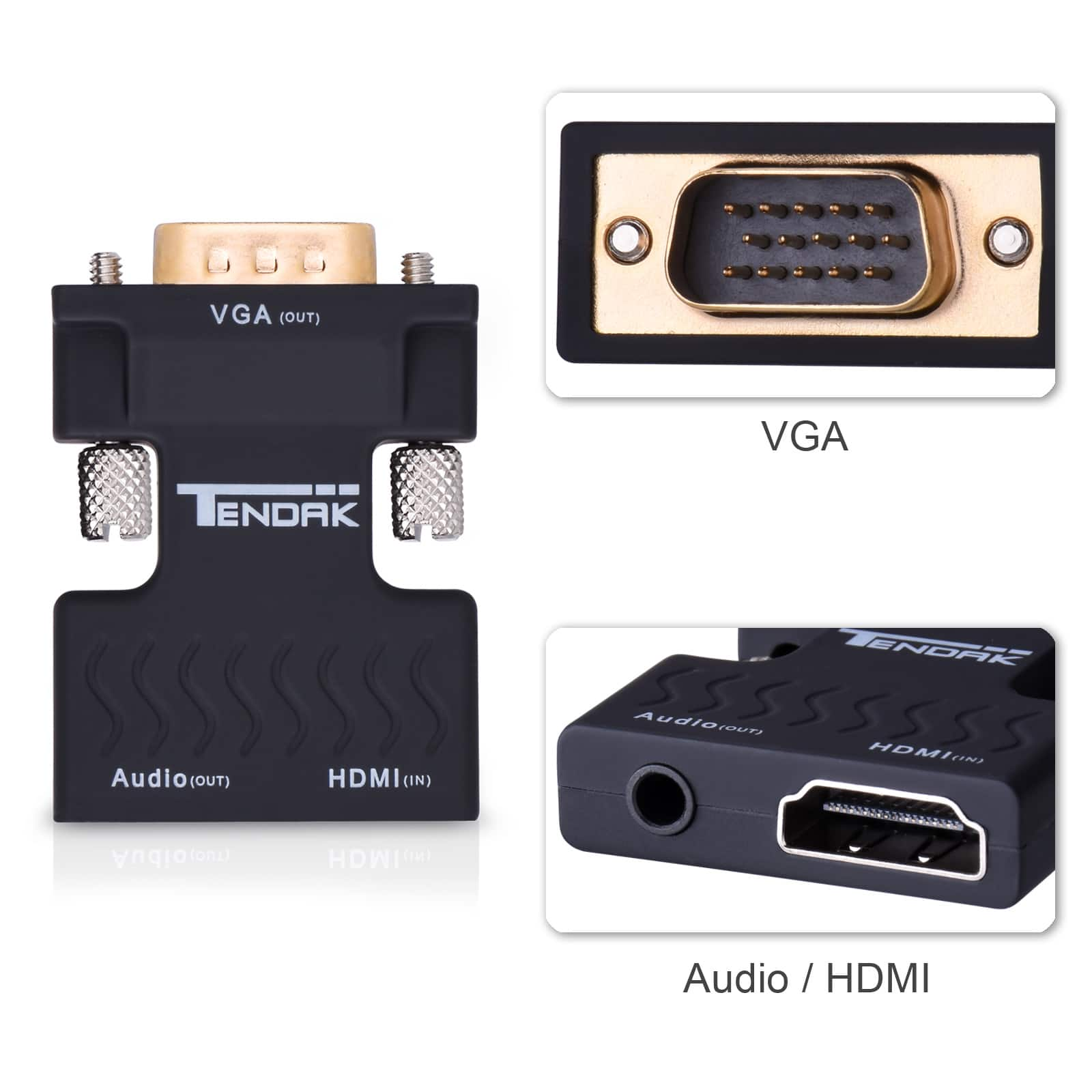 HDMI to VGA with Audio Adapter for Laptop PC PS3 Xbox STB Blu-ray TV Stick for $8.99
