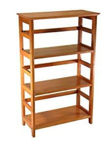 Winsome Wood 4-Tier Bookshelf, Honey for $46.15 @amazon