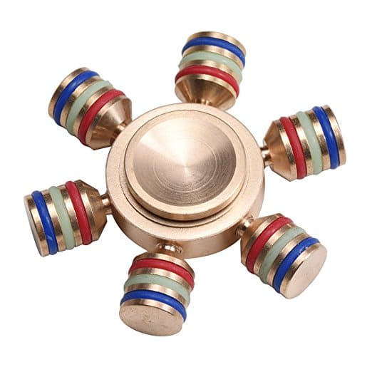 Hexagonal, Detachable, Copper Fidget Spinner for $2.99 @ Amazon w/ free prime shipping.