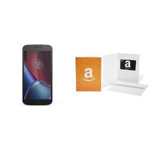 Moto G Plus (4th Gen.) Unlocked - Black - 64GB - U.S. Warranty & $50 Gift Card $299.99