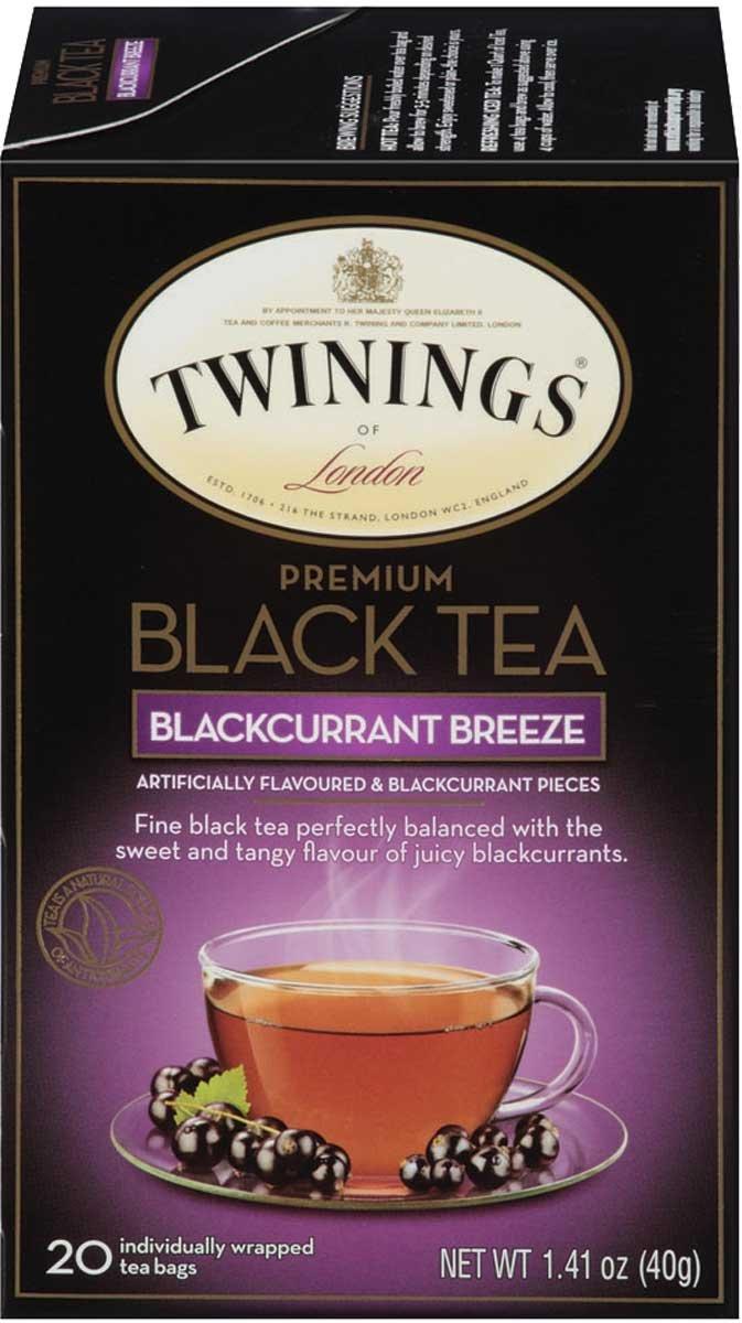 Twinings of London Premium Blackcurrant Breeze, black tea 120 Count (Pack of 6) $7.42
