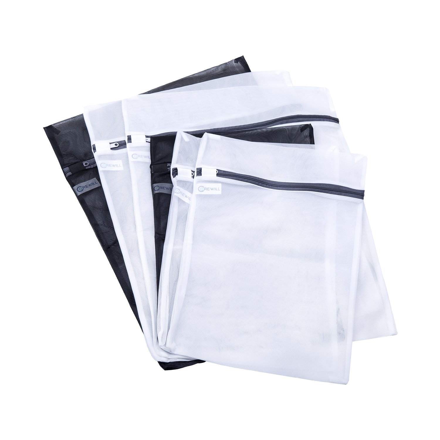 6 Packs Mesh Laundry Bags Travel Wash Bag for Blouse, Hosiery, Stocking, Underwear, Bra and Lingerie -3 Large,3 Medium $4.99