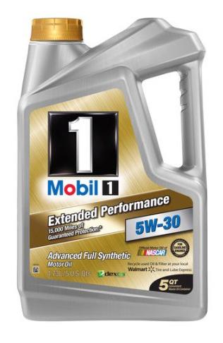 Mobil 1 5W-30 Extended Performance Full Synthetic Motor Oil, 5 qt - $25.98 @ Walmart.com