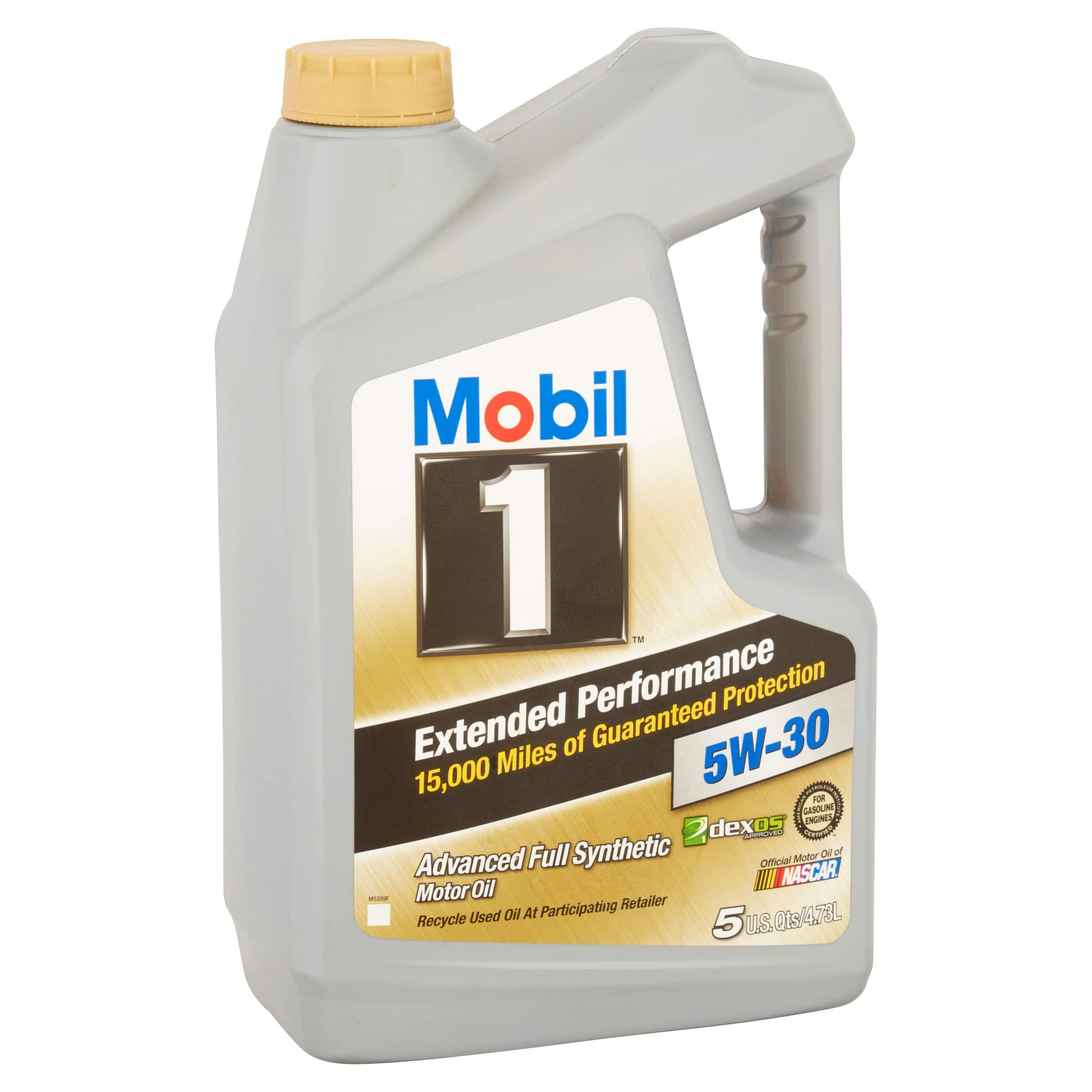 Mobil 1 5W 30 Extended Performance Full Synthetic Motor Oil 5 qt