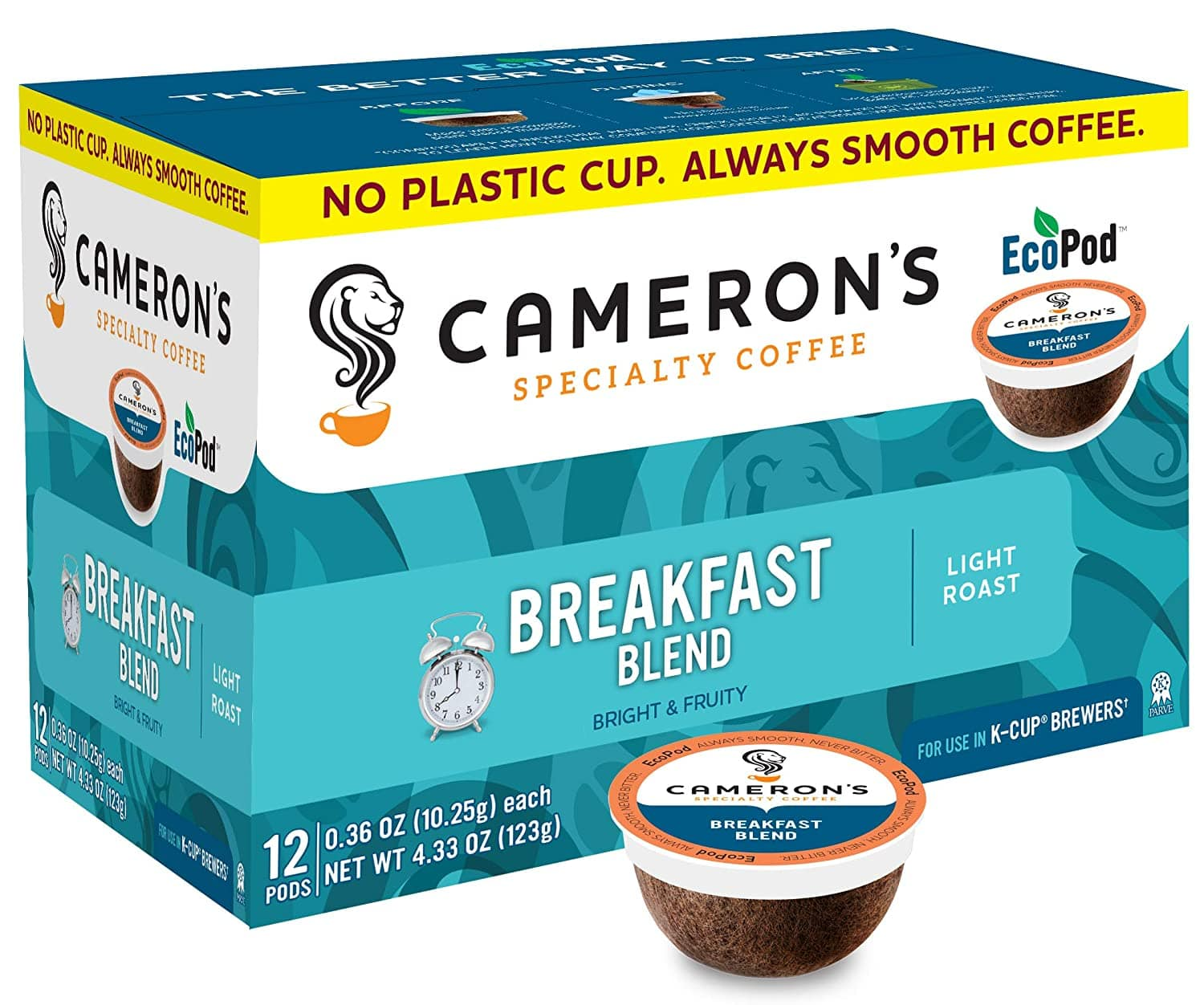Cameron's Coffee Single Serve Pods, Breakfast Blend, 12 Count (Pack of 6)
