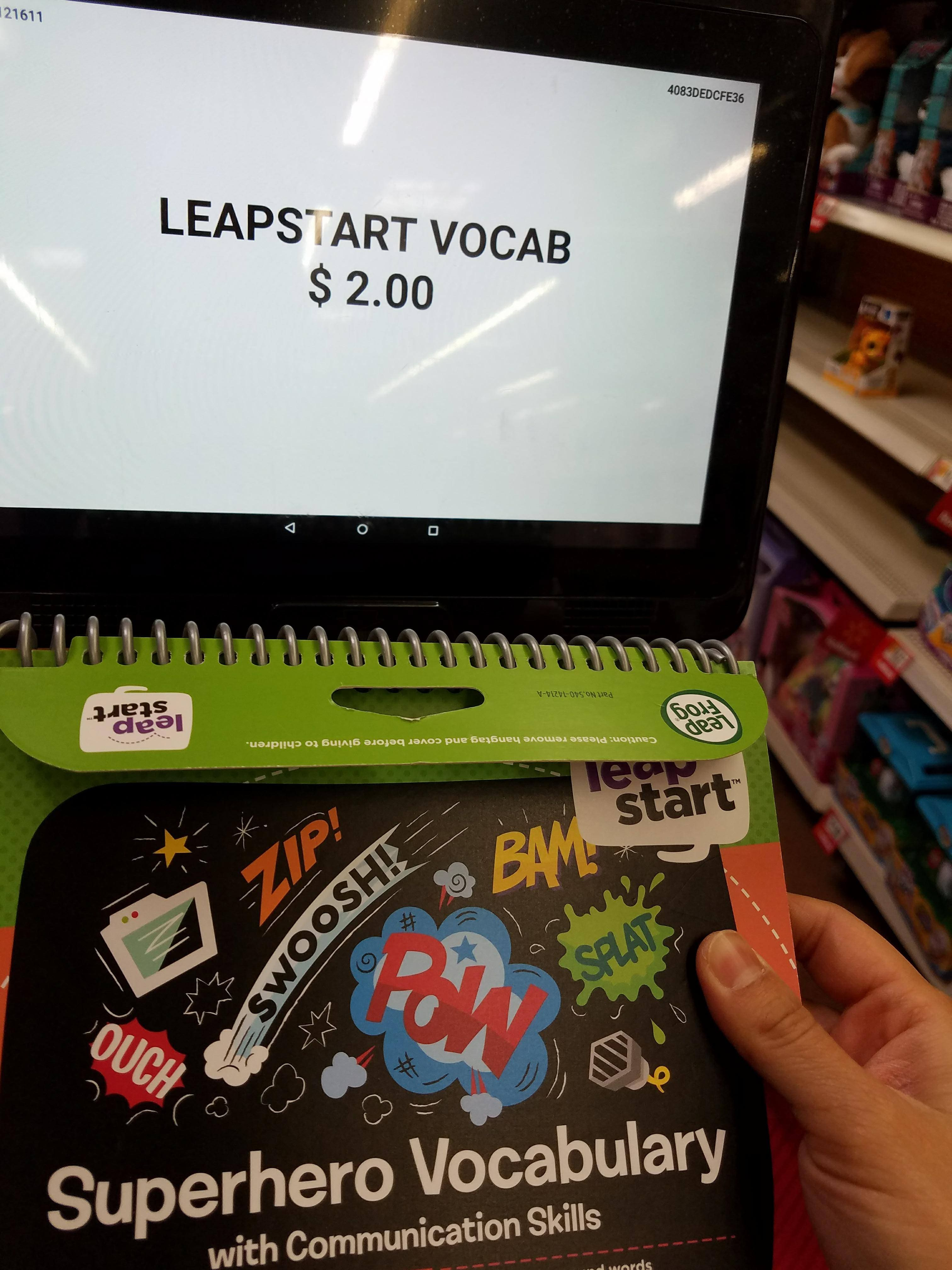 Walmart CLEARANCE Ymmv & BM Leapstart superhero vocabulary book $2