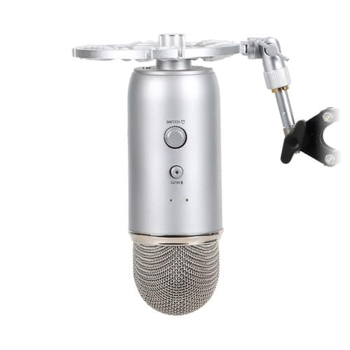Aluminum Shock Mount For Blue Yeti Microphone by Auphonix [Aluminum - Silver] $16.97
