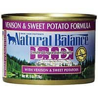 Amazon Deal: Natural Balance Limited Ingredient Dog Food 12 6oz cans Venison & Sweet Potato $9.99 and FS with Prime