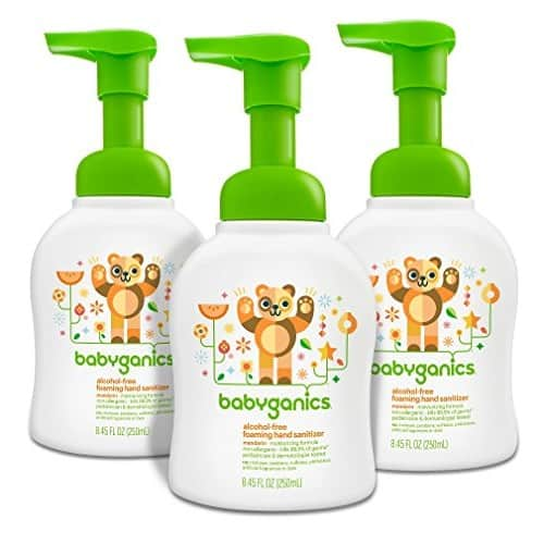 Babyganics Alcohol-Free Foaming Hand Sanitizer, Mandarin, 8.45oz Pump Bottle (Pack of 3) $9.39