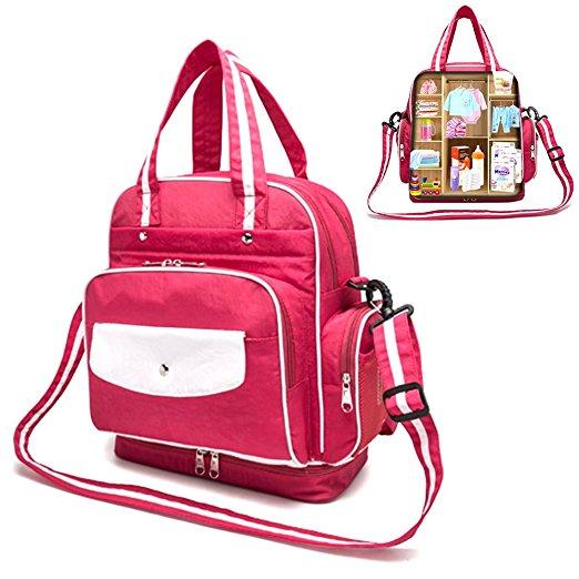 Multi-Functional Waterproof Diaper Bag ( Shoulder +Handbag ) $25.99 @amazon