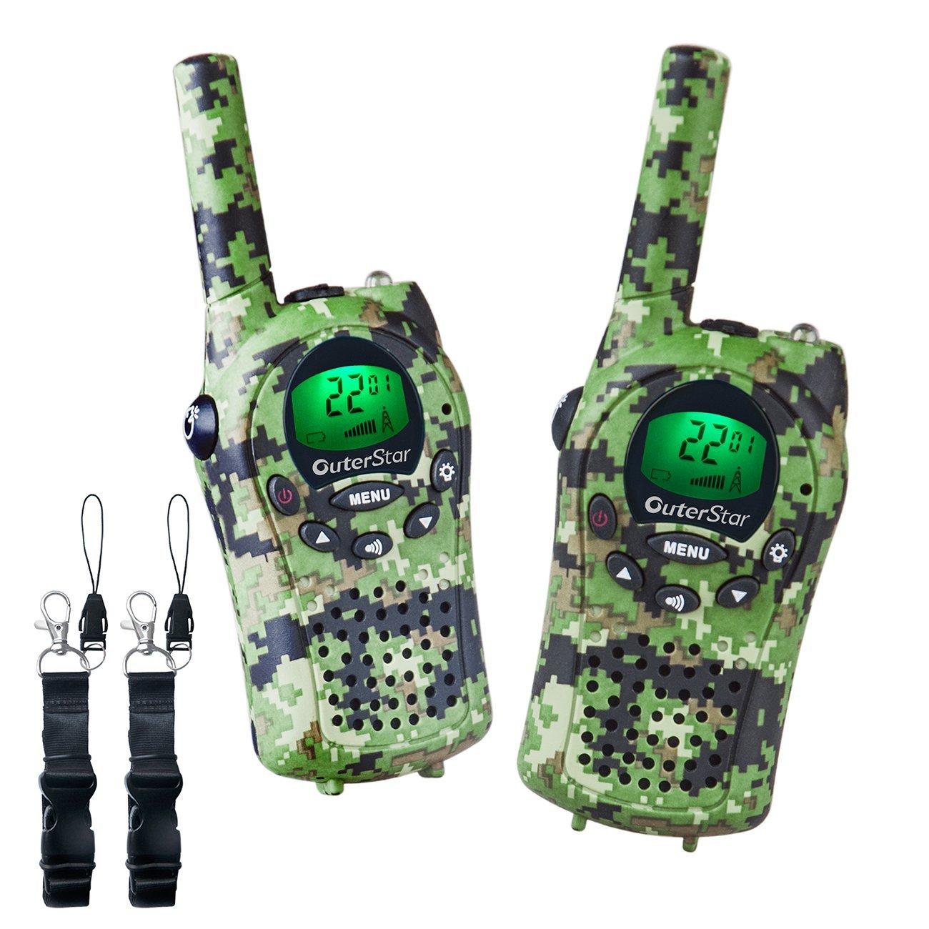 OuterStar Durable Walkie Talkies for Kids, 22 Channel 5KM Long Range (Green Camouflage) $17.93 @ Amazon